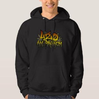420am Mayhem Rasta Weed Hoodie