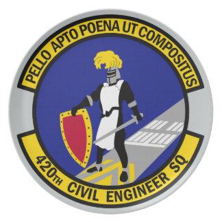 420th Civil Engineer Squadron Plate