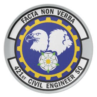 421st Civil Engineer Squadron Dinner Plate