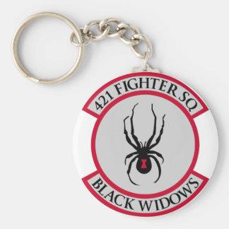 421st Fighter SQ Basic Round Button Keychain