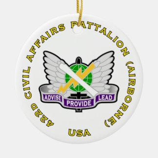 422d Civil Affairs Bn - Airborne Ceramic Ornament