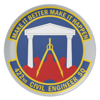 422nd Civil Engineer Squadron Dinner Plate