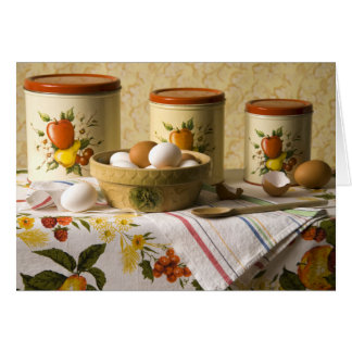 4237 Eggs in Crockery Bowl Still Life Card
