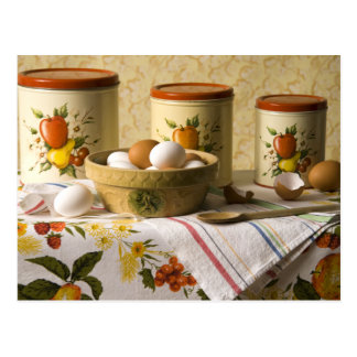 4237 Eggs in Crockery Bowl Still Life Postcard