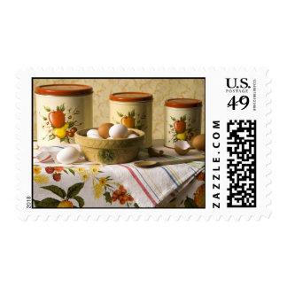 4237 Eggs in Crockery Bowl Still Life Stamp