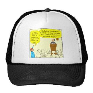 423 Read the bible - color Cartoon Mesh Hat