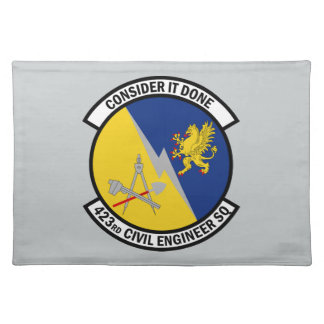 423rd Civil Engineer Squadron - Consider It Done Cloth Placemat