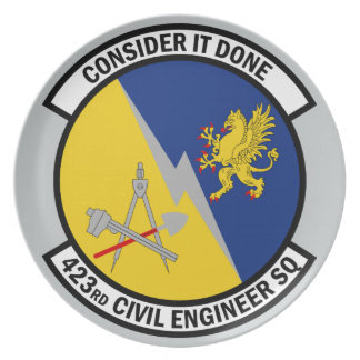 423rd Civil Engineer Squadron - Consider It Done Plate