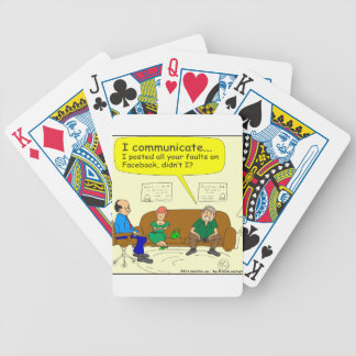 426 I communicate Cartoon Bicycle Playing Cards