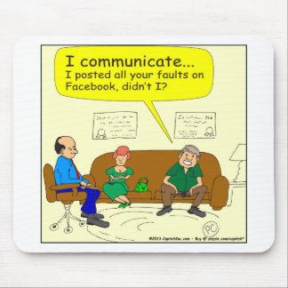 426 I communicate Cartoon Mouse Pad