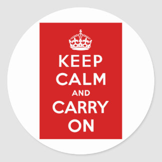 426px-Keep-calm-and-carry-on.svg.png Classic Round Sticker