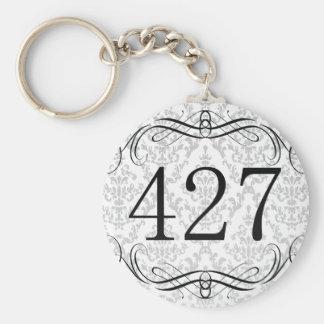 427 Area Code Basic Round Button Keychain