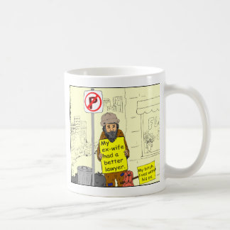 427 ex wife better lawyer Cartoon Coffee Mug