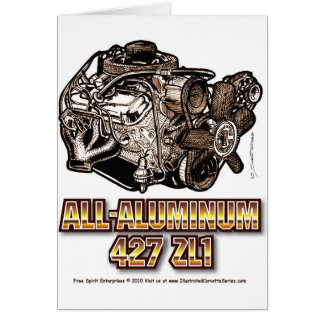 427 ZL1 Corvette Engine All-Aluminum Card
