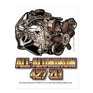 427 ZL1 Corvette Engine All-Aluminum Postcard