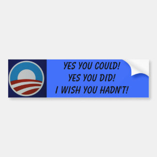 428458245_079bd3ff25, Yes you could!Yes you did... Car Bumper Sticker