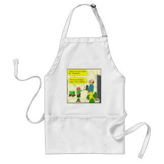 428 girl scout dentist cartoon adult apron