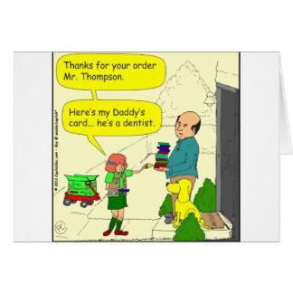 428 girl scout dentist cartoon greeting card
