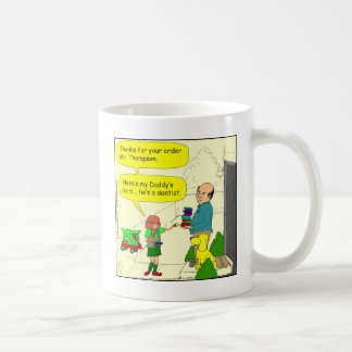428 girl scout dentist cartoon classic white coffee mug