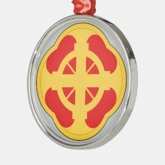 428th Field Artillery Brigade Round Metal Christmas Ornament