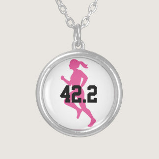 42.2 Marathon Girl Customizable Silver Plated Necklace