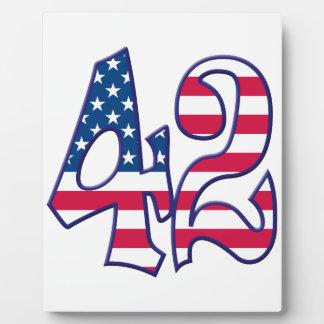 42 Age USA Display Plaques