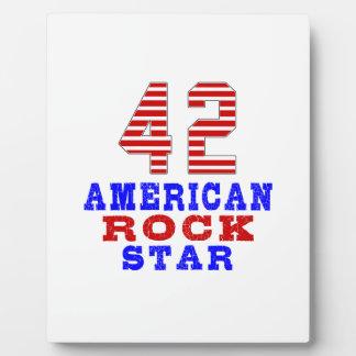 42 American rock star Plaque