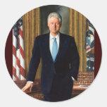 42 Bill Clinton Pegatina Redonda