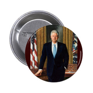 42 Bill Clinton Pin Redondo 5 Cm