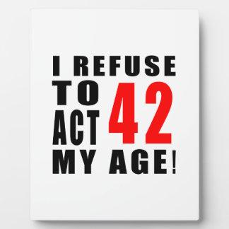42 birthday design photo plaques