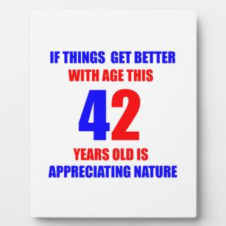 42 Birthday Design Plaque