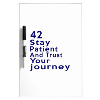42 Birthday Designs Dry-Erase Board