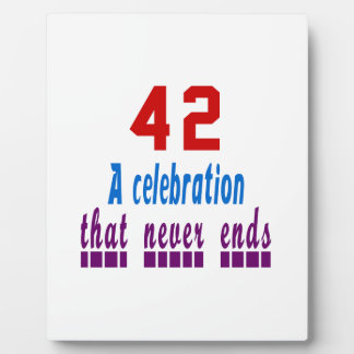 42 birthday designs plaques
