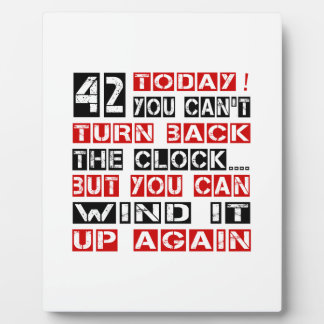 42 Birthday Designs Photo Plaques