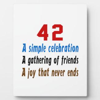 42 birthday designs photo plaque