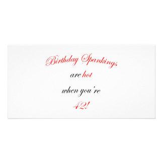 42 Birthday Spanking Card