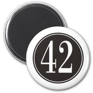 #42 Black Circle Magnet