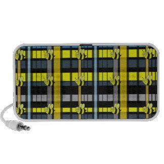 42.Black y la tela escocesa amarilla manosean dise Mini Altavoz