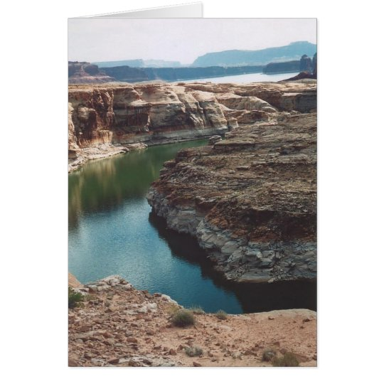 42. Blues & Greens, Lake Powell, Utah Card