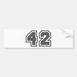 42 BUMPER STICKER