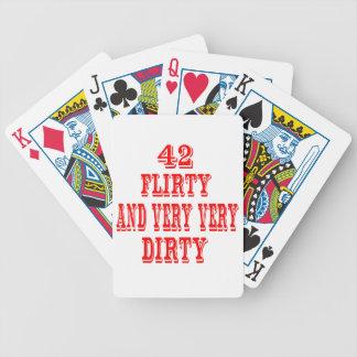42, coqueto y muy muy sucio baraja