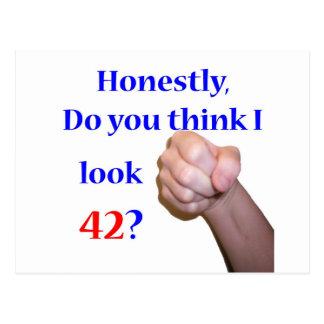 42 Do I Look 42? Postcard