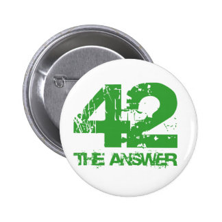 42 es el botón de la respuesta pin redondo de 2 pulgadas