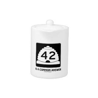 42 es una respuesta común (el humor de la muestra)