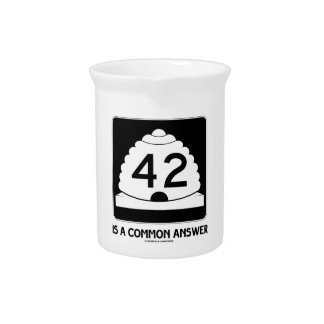 42 es una respuesta común (el humor de la muestra) jarrones