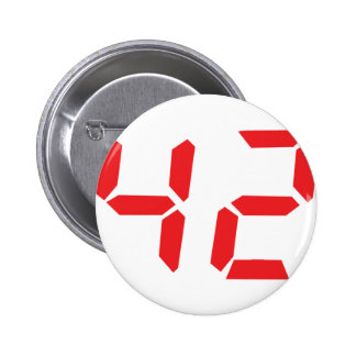 42 fourty-two red alarm clock digital number button