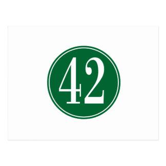 #42 Green Circle Postcard