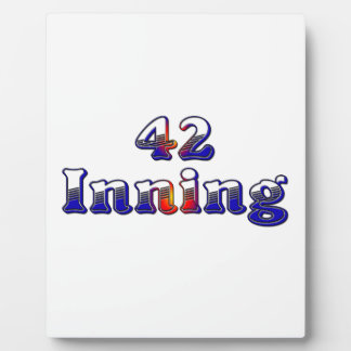 42 Inning Photo Plaques