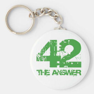 42 Is The Answer Keychain