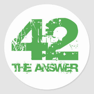 42 Is The Answer Stickers